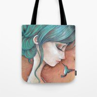 infinity Tote Bags featuring Infinity by Alessandra Fusi