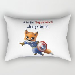 Superhero Fox Rectangular Pillow