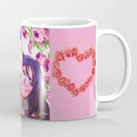 custom Mugs featuring Custom commission by Raleenadrawings