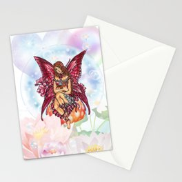 Spring Red Fairy Stationery Cards