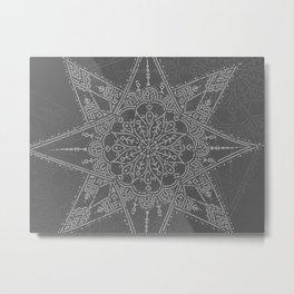 Mandala Star Metal Print