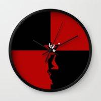 harley quinn Wall Clocks featuring HARLEY QUINN - HARLEY QUINN by Raisya