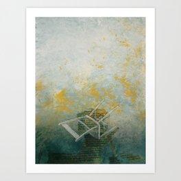 Kneeling Art Print