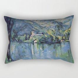 "Paul Cezanne ""The Lac d'Annecy"", 1896 Rectangular Pillow"