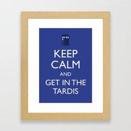Get in the TARDIS Framed Art Print
