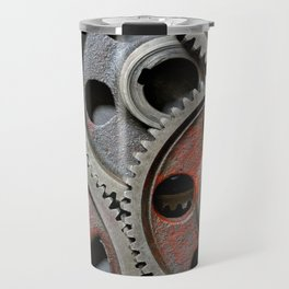 Group of old steel cogwheels Travel Mug