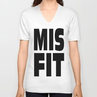 misfits V-neck T-shirts featuring misfits rock. by quality products