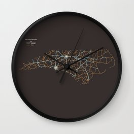 North Carolina Highways Wall Clock