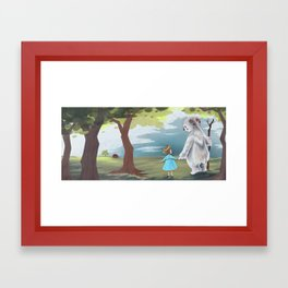 A long walk Framed Art Print