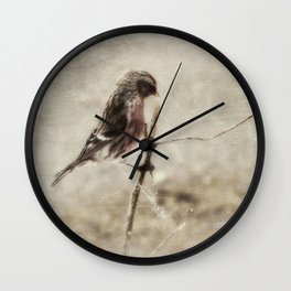 Redpoll Wall Clock