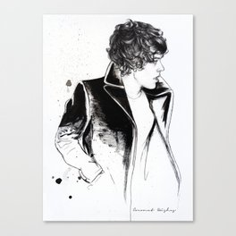 Harry coat sketch Canvas Print