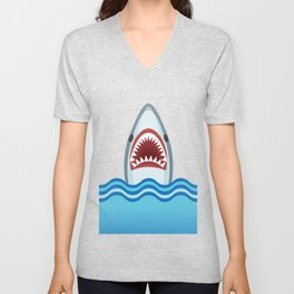 Cartoon Shark Unisex V-Neck