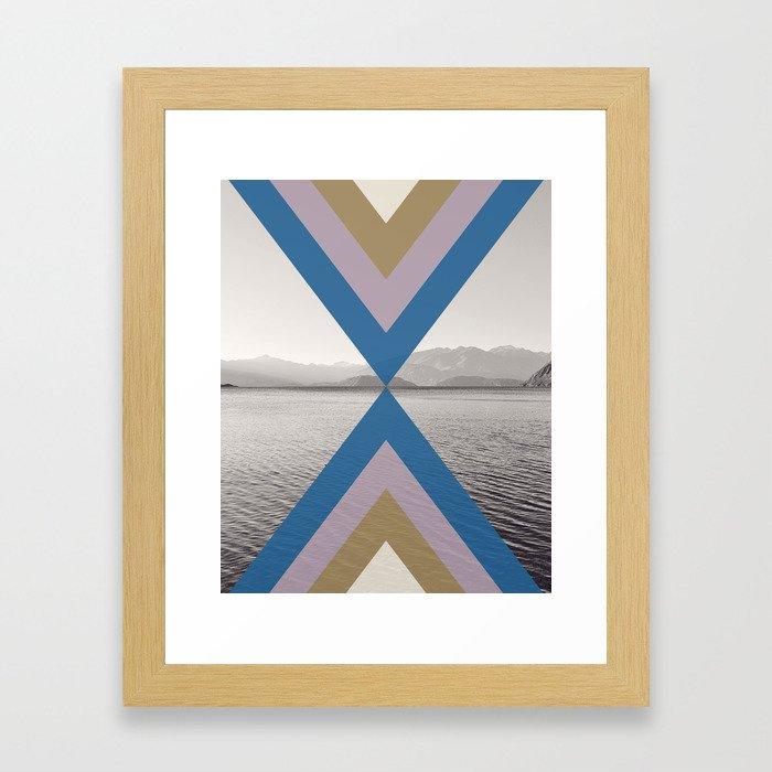 Boho Arrows of Lake Wanaka Framed Art Print