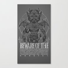 Super Monster Canvas Print
