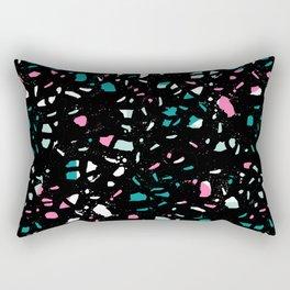 Terrazo black neon pattern trendy urban bklyn modern design paint splat pop art hipster gifts Rectangular Pillow