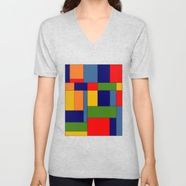 Abstract #348 Unisex V-Neck