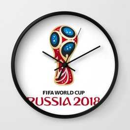 Logo WorldCup Russia 2018 Wall Clock
