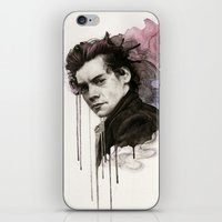 harry styles iPhone & iPod Skins featuring Harry Styles by bellavigg