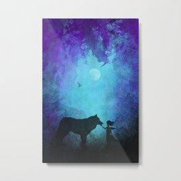 Wolf Whisperer Metal Print