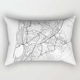 Mumbai Map White Rectangular Pillow