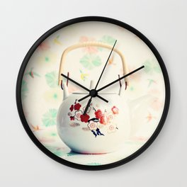 Japanese Teapot Wall Clock