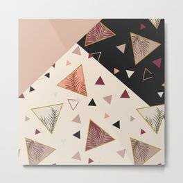 Triangles&Palms #society6 #decor #buyart Metal Print