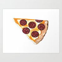 pizza Art Prints featuring Pizza by Sartoris ART
