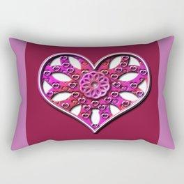 Raise Heart Valentine Rectangular Pillow