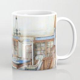 Franz Alt - Biedermeier interior with a man seated at a table - Digital Remastered Edition Coffee Mug