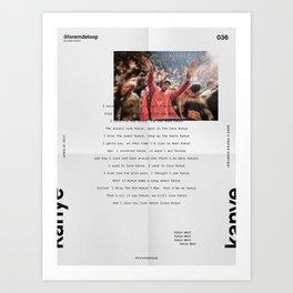 Lorem de Loop #036 Art Print