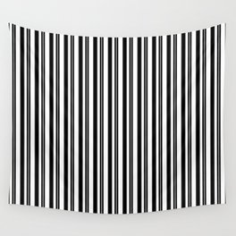 Ticking Black and White Wall Tapestry