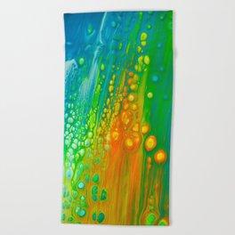 Aqua orange Beach Towel