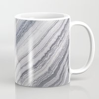 geology Mugs featuring Grey Marble by Santo Sagese