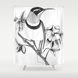 Long Beaked Bird Shower Curtain