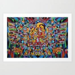 Ascending Chavin Eagle Art Print