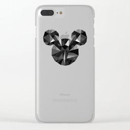 Black Pop Crystal Clear iPhone Case