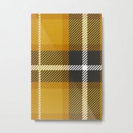 Mustard Yellow Plaid Metal Print