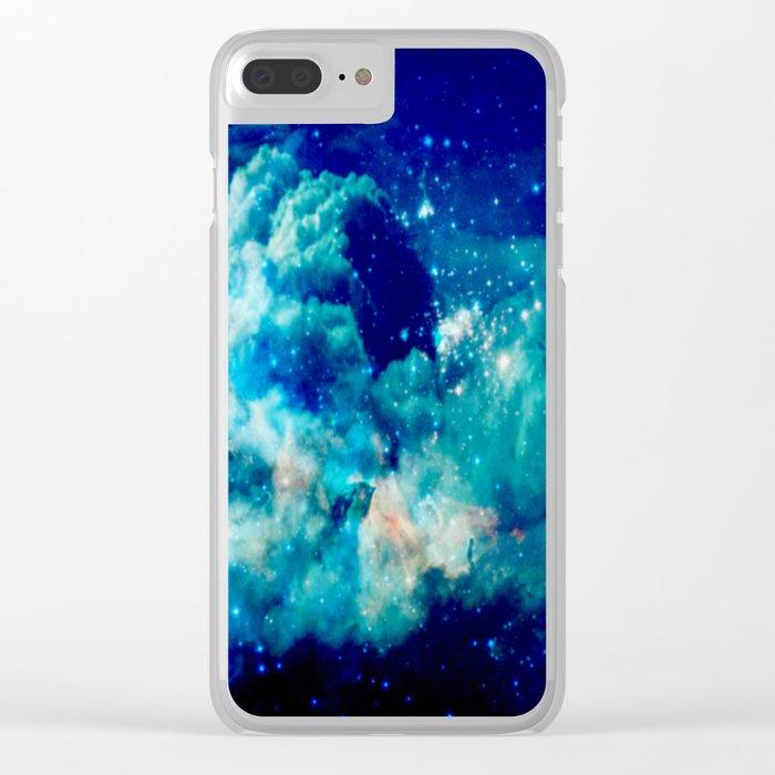 A Deep Cerulean Dream Clear iPhone Case