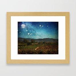 Starlit Vineyard II Framed Art Print