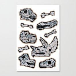Dinosaur Skulls Canvas Print
