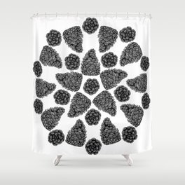 The Art of the Pinecones Shower Curtain
