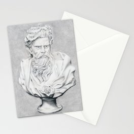 Zeus Bust Sculpture Stationery Cards