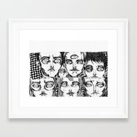 terry fan Framed Art Prints featuring terry by Valeria Pomidoro