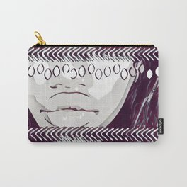 Black, Red & White Tribal Carry-All Pouch
