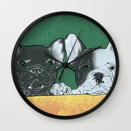 bouledogue au revoir Wall Clock