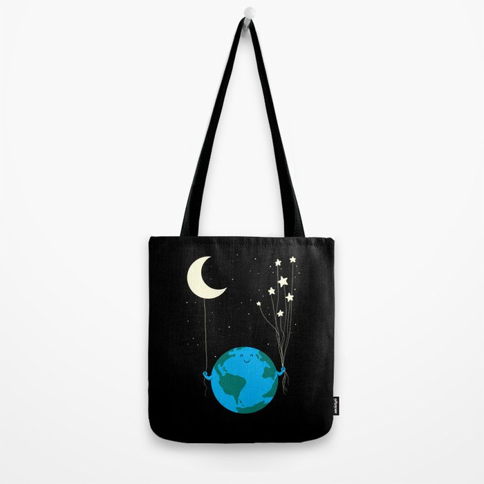 Under the moon and stars Tote Bag