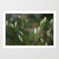 moss Art Prints featuring Moss  by Jess Val