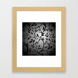 Black Trees on Gray Framed Art Print