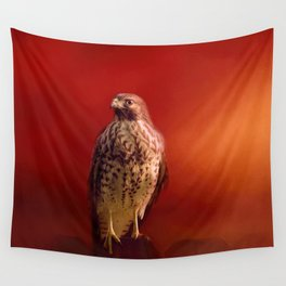 Hawk On A Hot Day Wall Tapestry