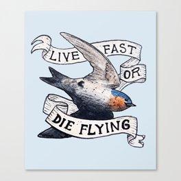 Bird no. 119: Speed Demon Canvas Print